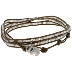 Support the hard-working artists of Sasa Designs by the Deaf, and the rapidly declining elephant population with this alluring and unique Elephant Wrap bracelet.