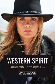 From crushable leather to felted wool and summer-weight straw, explore our wide selection of high-quality hats in a variety of styles, colors, and sizes. Western Outfits, Western Wear, Boho Outfits, Womens Western Hats, Cowgirls, Cossack Hat, Vaquera Sexy, Safari Chic, Trapper Hats