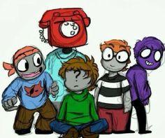 Mike, phone guy/scott, jeremy, Fritzs, purple guy
