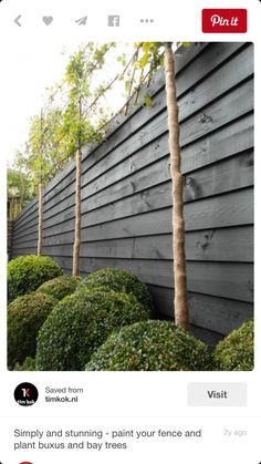 Dark grey fence