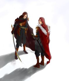 Winterland by greenapplefreak.deviantart.com on @DeviantArt<<< I'm guessing Maedhros with...someone...normally I'd say Fingon, but they look they might be having a tiff...which is a normal thing for cousins to do.