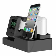 Buy Silicone Charging Holder Stand For iPhone X 8 7 Plus 5 Charger Stand Dock Station For Apple Watch Bracket Cradle For airpods Apple Watch Iphone, Apple Watch Airpods, Apple Watch Series 3, Nespresso, Phone Charger Holder, Docking Station, Charging Stations, Video Games For Kids, Diy Phone Case