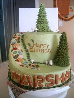 Syntymäpäiväsankari taitaa tykätä luonnosta! #kakku #luonto #cake #nature