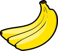 Awesome banana clipart outline