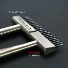 Pricking Irons – V2 (Silver) *New Version* – KS Blade Hole Punch, Blade, Iron, Silver, Money, Paper Punch, Steel