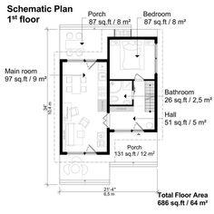 A House Plans Layout Porches Key: 6549206137 Cottage Style House Plans, Tiny House Cabin, Dream House Plans, Modern House Plans, House Floor Plans, Dream Houses, Dream House Interior, Dream Home Design, Tiny House Design