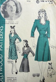 Simply too adorable - the neckline, the sleeves, the skirt, and that tiny, belted waist again.
