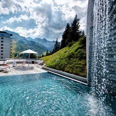 Tschuggen Grand Hotel in Arosa, Switzerland Ludwig Mies Van Der Rohe, Grand Hotel, Architecture Details, Relax, Adventure, Luxury, Places, Outdoor Decor, Spas