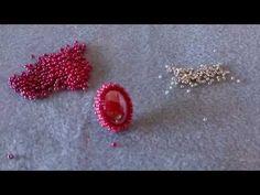 """Orecchini """"Red Velvet"""" rocaille preciosa, cabochon 13x18, rocaille toho - YouTube"""