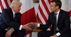 Macron annihilates Trump in the most awkward handshake battle of all time   Painful on so many levels.
