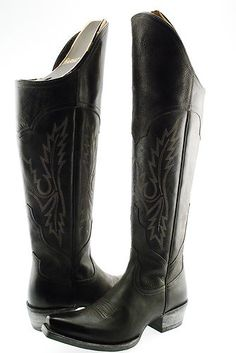 New Ariat Murrieta Womens Cowboy Western Knee High Tall Shaft Boot Shoe Black | eBay