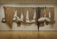 2011 summer exhibition at the Clark, Williamstown, MA. View an online sampling of El Anatsui's works and a video interview with the artist. Portal, Sculpture Art, Sculptures, Clark Art, Spa, Weird Art, Tapestry Weaving, Installation Art, Art School