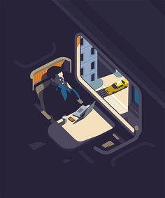 """Peter Greenwood is a talented freelance illustrator based in the UK. """"He works in a graphic style using vector based imagery. With a keen interest in art, music, space, old cars and colour he works across editorial, publishing and advertising to create bold iconic illustrations."""" More illustrations via Folio"""