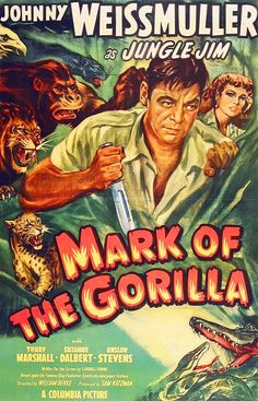Johnny Weissmuller as Jungle Jim in Mark Of a The Gorilla