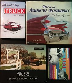 I've been out & about the past few weekends and here are books #481-485 from the trips.  The Fiat 500 book is the first real non-English book in the collection (not counting some Rules of the Road booklets from the Illinois SoS).  The photos in Wine Country Trucks of Napa & Sonoma Counties are just gorgeous, and there are some amazing vintage pickups still in use there. Napa Sonoma, Sonoma County, Country Trucks, English Book, Scene Photo, Fiat 500, Wine Country, Booklet, Counting