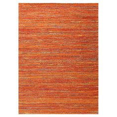 Boasting a vibrant sunset palette, this handmade jacquard-woven rug is crafted of art silk for soft style.   Product: Rug