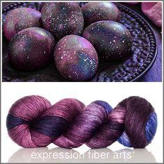 Galaxy Eggs - pearlescent fingering yarn - 550 yd - expression fiber arts