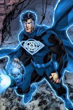 Blue Lantern Superman by ComicMultiverse on DeviantArt Comic Books Art, Comic Art, Blue Lantern Corps, Blue Lantern Ring, Arte Dc Comics, Mundo Comic, Dc Comics Characters, Batman And Superman, Superman Family