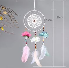 Buy Turquoise Pendant Feather Dream Catcher, Indain Crafts Boho Style Wall Hanging Large Wind Chimes Dreamcatcher at Cute - Beauty Shopping Large Wind Chimes, Feather Dream Catcher, Cute Beauty, Turquoise Pendant, Beauty Shop, Boho Fashion, Handmade, Crafts, Color