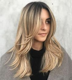 50 Cute and Effortless Long Layered Haircuts with Bangs Long Layered Blonde Hairstyle Long Thin Hair, Long Hair With Bangs, Long Hair Cuts, Hair Long Layers, Medium Hair With Layers, Straight Layered Hair, Long Face Hairstyles, Haircuts For Long Hair, Straight Hairstyles