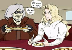 theurgeist: Colored Dante and Alucard for the drawthread. theurgeist: Colored Dante and Alucard for the drawthread. This pizza partys gettin crazy! Lets rock! Castlevania Anime, Castlevania Netflix, Funny Images, Funny Pictures, Dante Devil May Cry, Fanart, Street Fights, Alucard, Team Fortress 1