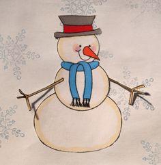 Free Christmas Digital Stamps: Cute Snowman