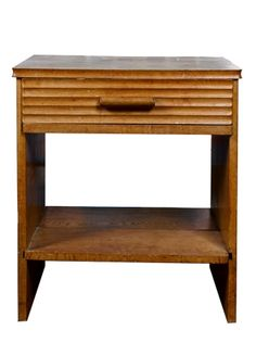 Fred Ward (1899 1990) : Single Drawer Bed Side Table
