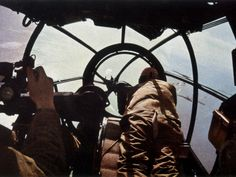 Pictured is an excellent view taken from the cabine of a Heinkel He 111 during Battle of Britain in Luftwaffe, Ww2 Aircraft, Military Aircraft, Ww2 Planes, Battle Of Britain, Nose Art, World War Ii, Wwii, Dieselpunk