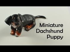 Miniature Dachshund Puppy - polymer clay TUTORIAL - YouTube