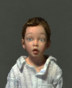 THE DISCOVERY Miniature Dollhouse 1:12 scale, Doll Art Sculpture  by AMSTRAM-I just won this wonderful little boy sculpted from a Norman Rockwell painting! Cannot wait to get him-Louise Glass