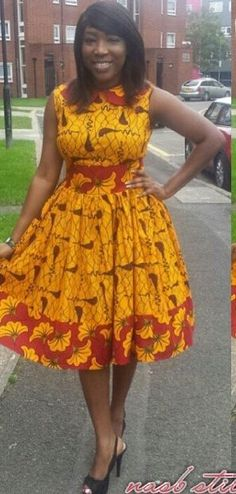 Online Hub For Fashion Beauty And Health: Simple But Lovely Ankara Midi Gown For The Cuties