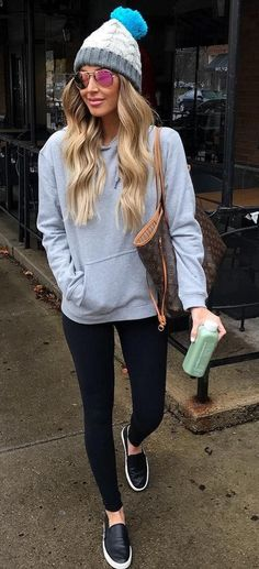 Blue Beanie Grey Sweater Source