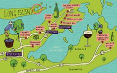 Long Island Wineries The first commercial vineyard was planted in Cutchogue on the North Fork of Long Island in 1973. Today, there are over 60 licensed producers on Long Island (from North and South Shores and the Hamptons) with more than 40 open to the public for tastings and tours. Some wineries have wine clubs and there are even courses available where you can learn about wine. From our Smithtown Home for Sale only 40 minutes.