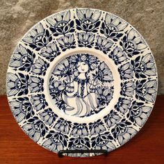 Bjorn Wiinblad Plate I.  Oh how I'd love to have this for mosaics!