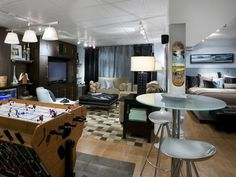 Cool Teen Hangout - 10 Chic Basements by Candice Olson on HGTV