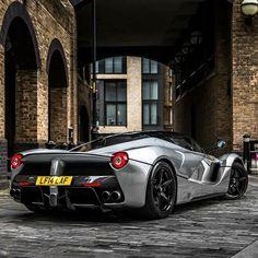 Urban Slick! Grigio #Ferrari #LaFerrari spotted in the wild in #London courtesy of @488talk member @xricox  Register on www.488talk.com #488talk #ferrarilaferrari