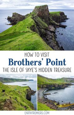 Isle of Skye's Hidden Treasure One of the best places to see on the Isle of Skye is Rubha nam Brathairean (Brother's Point). Get inspired: drone video and amazing photos!One of the best places to see on the Isle of Skye is Rubha nam Brathairean (Brother's Scotland Vacation, Scotland Road Trip, Scotland Travel, Ireland Travel, Scotland Hiking, Outlander, Cool Places To Visit, Places To Travel, England And Scotland