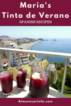 Spanish Recipes - Maria's Tinto de Verano