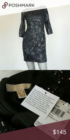 AIDAN AIDAN MATTOX floral sequins mini dress Save $150 (50%)  Sequins throughout. Crewneck. 3/4 sleeves.  Low V back. Tonal top stitching and panel seaming. Hidden back zip closure. Fully lined.   Fabric 1: 100% nylon shell. Lining: 96% polyester, 4% elastane.  Size: US 2 (runs small; fits size 0-2)  Brand new. Never worn. Can provide more pictures and info upon request. Reasonable offer only! Aidan Mattox Dresses Mini
