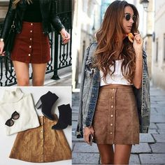 Cheap leather pencil skirt, Buy Quality short skirt women directly from China skirt button Suppliers: Summer lace up leather pencil skirt 2017 cross high waist skirt Button split bodycon short skirts womens Casual Skirts, Short Skirts, Mini Skirt Dress, Button Up Skirts, High Waisted Pencil Skirt, Waist Skirt, Winter Skirt, Style Casual, Suede Skirt