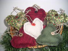 Country Christmas Handmade Ooak  HEART BOWL by ShopOfCraftsByMyrna, $16.50 #pcfteam