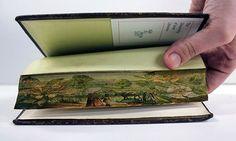 Secret fore-edge paintings hidden on the edges of some historic books