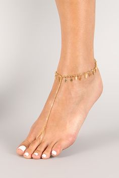 Leaf Charms Foot Chain $10