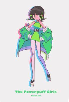 Buttercup (I've cosplayed as her a few times :'D) Girl Cartoon, Cartoon Art, Cartoon Network Powerpuff Girls, Power Puff Girls Z, Chibi, Super Nana, Desenhos Cartoon Network, Character Art, Character Design
