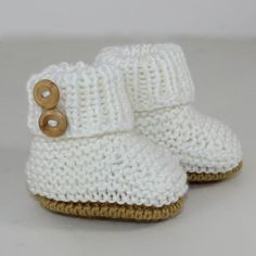 Looking for your next project? You're going to love BABY SIMPLE UNISEX BOOTIES by designer madmonkeyknits.