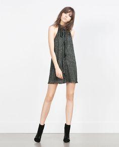HALTER NECK SHIMMER THREAD DRESS from Zara