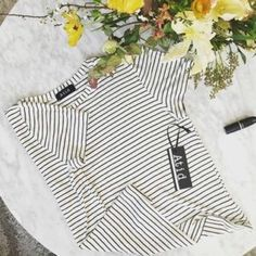 Atid Lilie Tee-Basic Striped Tee!! Lilie Tee by Atid Clothing based in LA.  Relaxed Fit.  Made of soft jersey knit material.  MSRP $50~made in the USA Atid Clothing Tops Tees - Short Sleeve