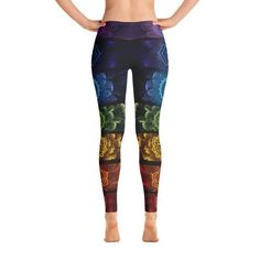 1c98e8a2859f27 Abstract Bright Colorful Leggings in 2019 | Just Sayin' Teez and ...