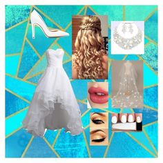 """""""Wedding day 1"""" by rebecka-roggenstein on Polyvore featuring beauty, Gianvito Rossi and Charlotte Tilbury"""