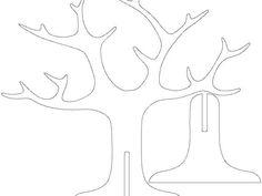 Tree Ring Holder by mihi – Thingiverse – Handwerk und Basteln Cardboard Tree, Cardboard Animals, Cardboard Box Crafts, Paper Crafts, Preschool Crafts, Crafts For Kids, Fall Arts And Crafts, Butterfly Tree, 3d Craft